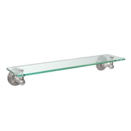 Gatco 5850 Marina Glass Shelf Satin Nickel
