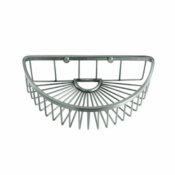 Gatco 1574 Half Round Soap Basket Satin Nickel