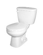 Gerber 21-402-95 Maxwell Gravity Fed Round Front Toilet - White