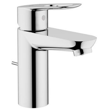 Grohe 23 084 000 BauLoop Single Loop Handle Centerset Lavatory Faucet - Chrome