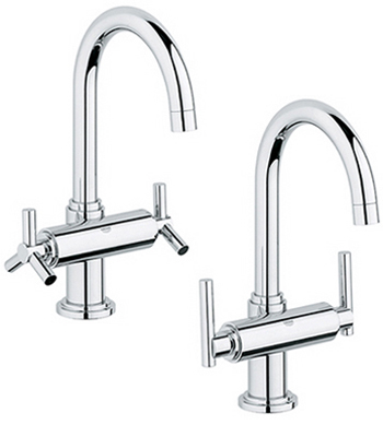 Grohe 21.027.00E Atrio WaterCare High Spout Centerset Lavatory Faucet - Starlight Chrome