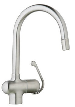 Grohe 32 245 SD0 Ladylux Pro Main Sink Dual Spray Pull-Down Kitchen Faucet - Stainless Steel