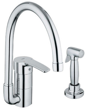 Grohe 33 980 001 Eurostyle High Profile Kitchen Faucet with Side Spray - Chrome