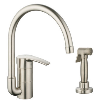 Grohe 33 980 EN1 Eurostyle High Profile Kitchen Faucet with Side Spray - Brushed Nickel