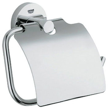 Grohe 40 367 EN0 Essentials Paper Holder - Brushed Nickel (Pictured in Chrome)