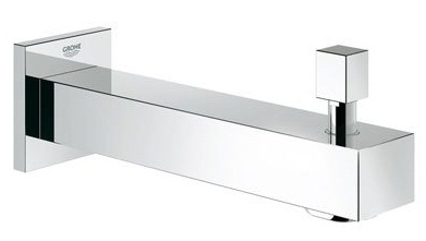 Grohe 13307000 Eurocube Wall Mount Tub Spout with Diverter - Starlight Chrome