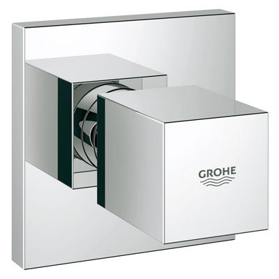 Grohe 19910000 Eurocube Volume Control Trim with Grip Handle - Starlight Chrome