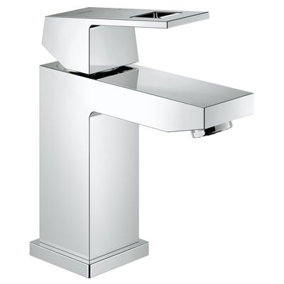 Grohe 23133000 Eurocube Modern Single Hole Lavatory Faucet Less Drain - Starlight Chrome