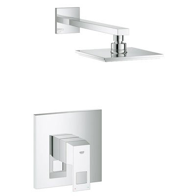 Grohe 23148000 Eurocube Single Handle Pressure Balance Shower Trim - Starlight Chrome