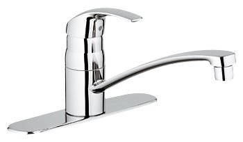 Grohe 3107410E Eurosmart Kitchen Single Handle Faucet with Escutcheon - Starlight Chrome