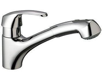 Grohe 3299900E Alira Kitchen Faucet Single Handle with Pullout and 140 Degree Swivel Spout - Starlight Chrome