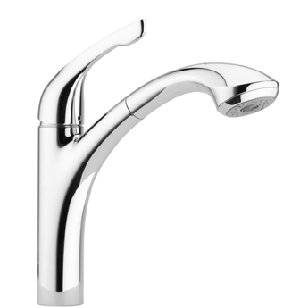 Hansgrohe 04076861 Allegro E Single Handle Pull-Out Kitchen Faucet Low Flow - Steel Optik (Pictured in Chrome)