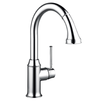 Hansgrohe 004215921 Talis C Higharc Pull Down Kitchen Faucet Low Flow - Rubbed Bronze (Pictured in Chrome)