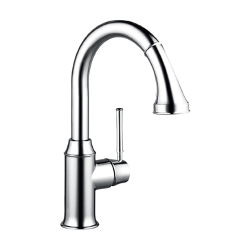 Hansgrohe 04216920 Talis C Prep Pull Down Kitchen Faucet - Rubbed Bronze (Pictured in Chrome)