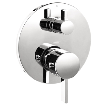 Hansgrohe 04230820 S Thermostatic Trim w/Volume Control - Brushed Nickel (Pictured in Chrome)