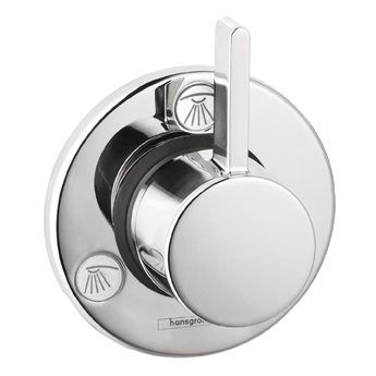Hansgrohe 04232820 S Trio/Quattro Trim - Brushed Nickel (Pictured in Chrome)