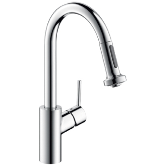 Hansgrohe 04286800 Talis S 2 Prep Pulldown Kitchen Faucet - Steel Optik (Pictured in Chrome)