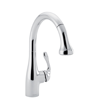 Hansgrohe 04066861 Allegro E Gourmet Pulldown Prep Kitchen Faucet Low Flow - Stainless Steel Optik (Pictured in Chrome)