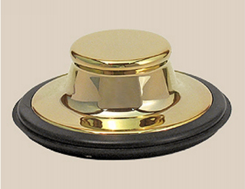 Herbeau 451455 Garbage Disposal Stopper - Polished Brass (Pictured in Solibrass)