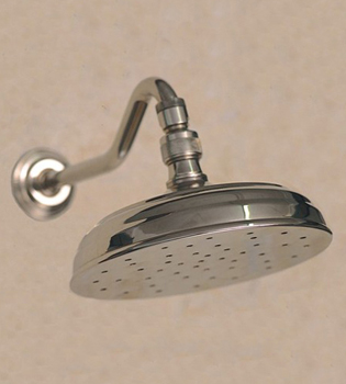 Herbeau 306255 Bath Couture Adjustable Showerhead Arm and Flange - Polished Brass (Pictured in Polished Nickel)