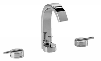 Jado 831/003/150 Glance Widespread Lavatory Set Lever Handles - Platinum Nickel (Pictured in Chrome)