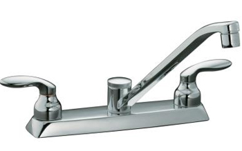 Kohler K-15251-4-CP Coralais Two Handle Kitchen Faucet - Chrome