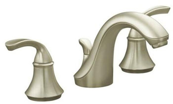 Kohler K-10273-4-BN Forte Two Handle Widespread Lavatory Faucet Vibrant Brushed Nickel