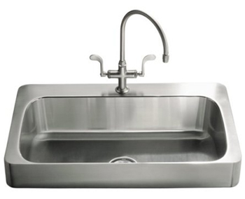 Kohler K-3084-2R-NA Verity Apron-Front Kitchen Sink - Stainless Steel