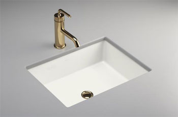Kohler K-2882-0 Verticyl Rectangle Undercounter Lavatory Sink - White