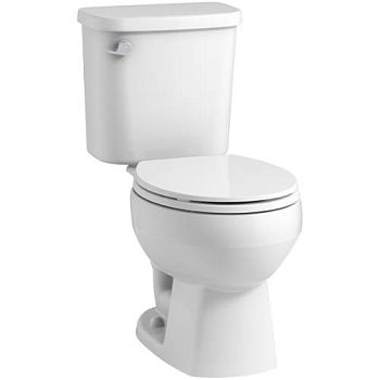 Sterling Plumbing 403080-0 Windham Two Piece 1.28 GPF Round Toilet with Pro Force Technology - White