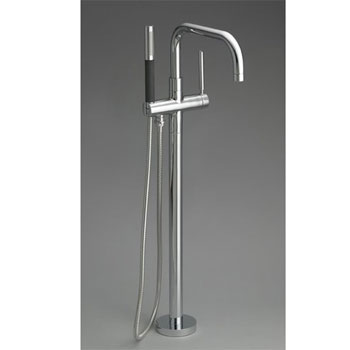 Kohler K-10129-4-CP Purist Floor-Mount Bath Filler - Chrome