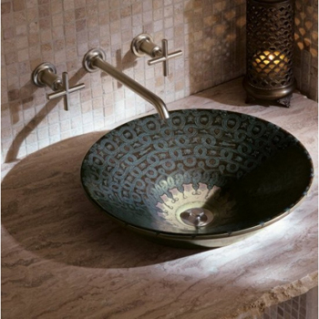 Kohler K-14223-SP-G9 Serpentine Bronze Lavatory - Sandbar (Faucet and Accessories Not Included)