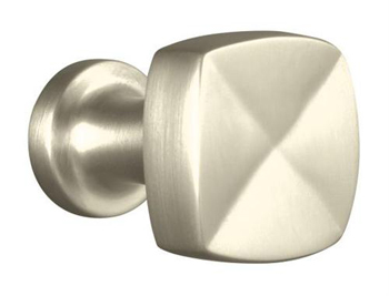 Kohler K-16262-BN Margaux Knob Cabinet Hardware - Brushed Nickel