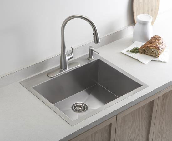 kohler single basin kitchen sink kohler k 3822 1 vault medium single kitchen sink with 8821