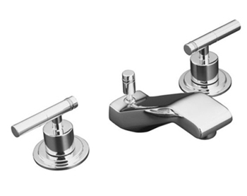 Kohler K-8211-4-CP Taboret Two Handle Widespread Bathroom Faucet - Polished Chrome