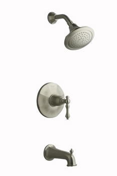 Kohler K-T13492-4-BN Kelston Rite-Temp Pressure Balancing Bath and Shower Faucet Trim - Brushed Nickel