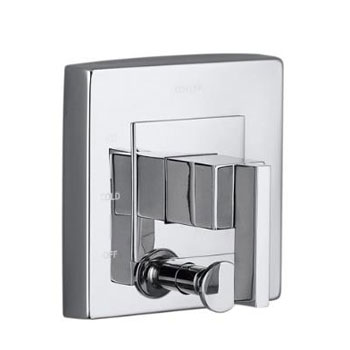 Kohler K-T14668-4-BN Loure Rite-Temp Valve Trim with Diverter - Brushed Nickel (Pictured in Chrome)