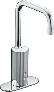 Kohler K-10955-4-CP Touchless AC Powered Electronic Faucet with Manual Temperature Adjustment - Polished Chrome
