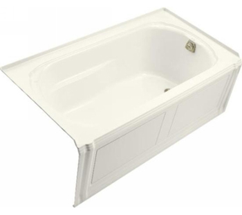 Kohler K-1108-RA-96 Portrait 5' Bath With Integral Apron And Right Hand Drain - Biscuit