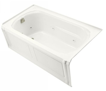 Kohler K-1109-HL-0 Portrait 5' Whirlpool With Integral Apron, In-Line Heater And Left Hand Drain - White
