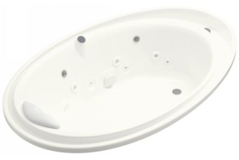 Kohler K-1110-V-0 Purist Whirlpool With Spa/Massage Experience Package - White