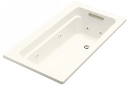 Kohler K-1122-H-96 Archer 5' Whirlpool With In-Line Heater - Biscuit