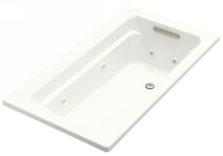 Kohler K-1122-H-0 Archer 5' Whirlpool With In-Line Heater - White