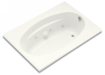 Kohler K-1126-R-0 Proflex 6042 Whirlpool With Tile Flange and Right Hand Drain - White