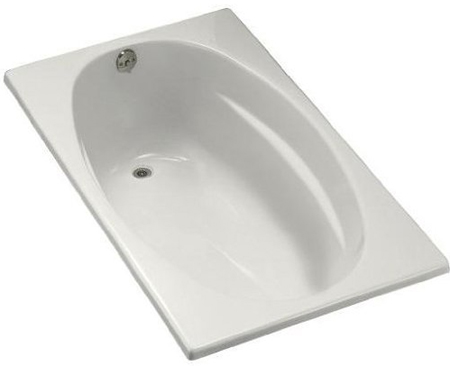 Kohler K-1142-L-0 Proflex 6036 Bath With Tile Flange And Left Hand Drain - White