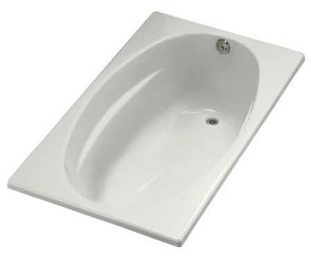 Kohler K-1142-R-0 Proflex 6036 Bath With Tile Flange And Right Hand Drain - White