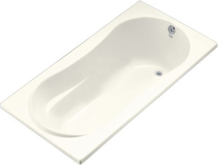 Kohler K-1159-R-96 Proflex 7236 6' Bath With Tile Flange And Right Hand Drain - Biscuit