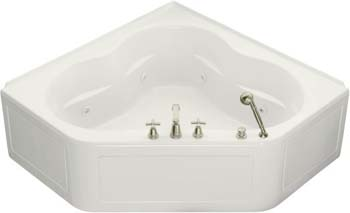 Kohler K-1160-LA-0 Tercet 5' Whirlpool With Integral Apron - White