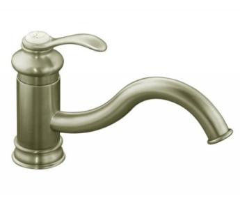 kohler faucet k12175bn fairfax single handle kitchen faucet brushed nickel
