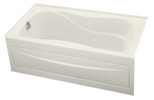 Kohler K-1219-LA-96 Hourglass 5' Bath With Integral Apron and Left Hand Drain - Biscuit